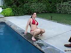 chubby mature milf rubs pussy chat at LickaToad