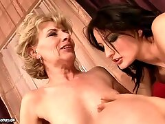 Grannies and Teen Pussies Lesbian Compilation