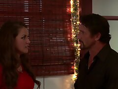 Allie Haze gets a last Christmas fucking from her ex
