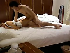Korean Couple Sexual Romantic In Bed