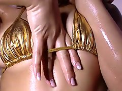 HARUKA - Oiled Up Gold Bikini Wet Fetish (Non-Nude)
